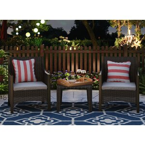 Eddings 3 Piece Deep Seating Group with Cushion