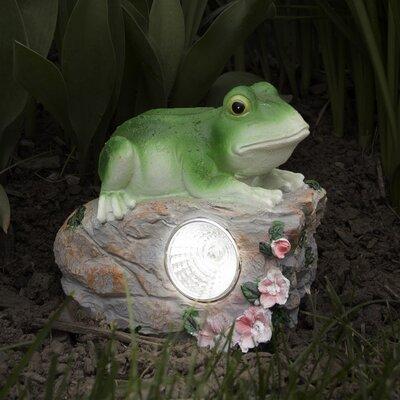 Frog Solar LED Light Statue Pure Garden