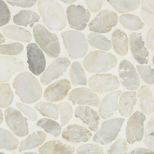 Dorado Pebble Tumbled Random Sized Marble Pebbles/Rocks Tile in White