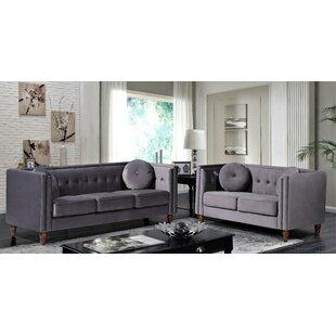 Everette 2 Piece Standard Living Room Set by House of Hampton