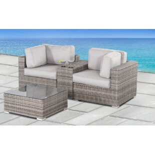 Yeomans 4 Piece Rattan Seating Group with Cushions