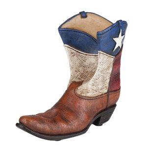 True Brands Rodeo Lone Star Boot 1 Bottle Tabletop Wine Rack