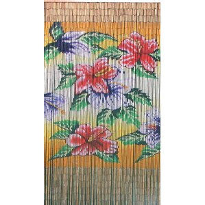 Tropical Flowers Graphic Print U0026 Text Semi Sheer Single Curtain Panel