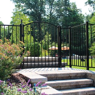 4 Ft. Texas Arched Metal Gate By Wayside - State Line Of Aluminum Fence