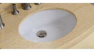 Royal Purple Bath Kitchen Ceramic Oval Undermount Bathroom Sink with Overflow