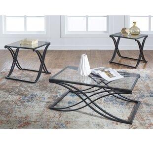 Winston Porter Bemis 3 Piece Coffee Table Set