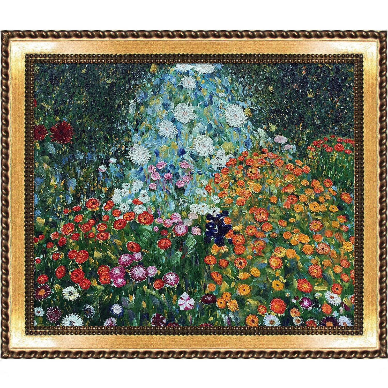 flower garden by gustav klimt framed painting