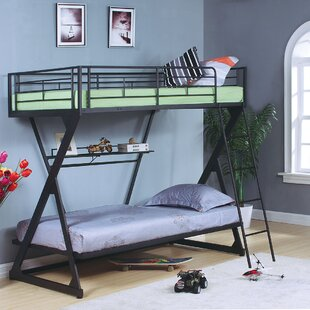 Jerold Twin over Twin Bunk Bed with Bookshelf