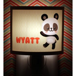 Common Rebels Yellow Panda Personalized Night Light