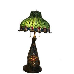 Mattson Tiffany Peacock 30 Table Lamp