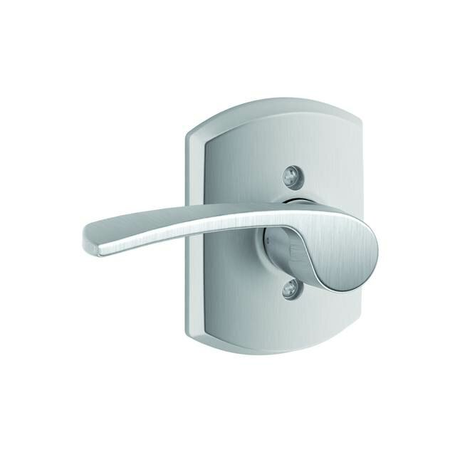 Schlage Inactive Interior Merano Lever Greenwich Rosette Dummy Entry Set Exterior Portion Sold Separately Wayfair