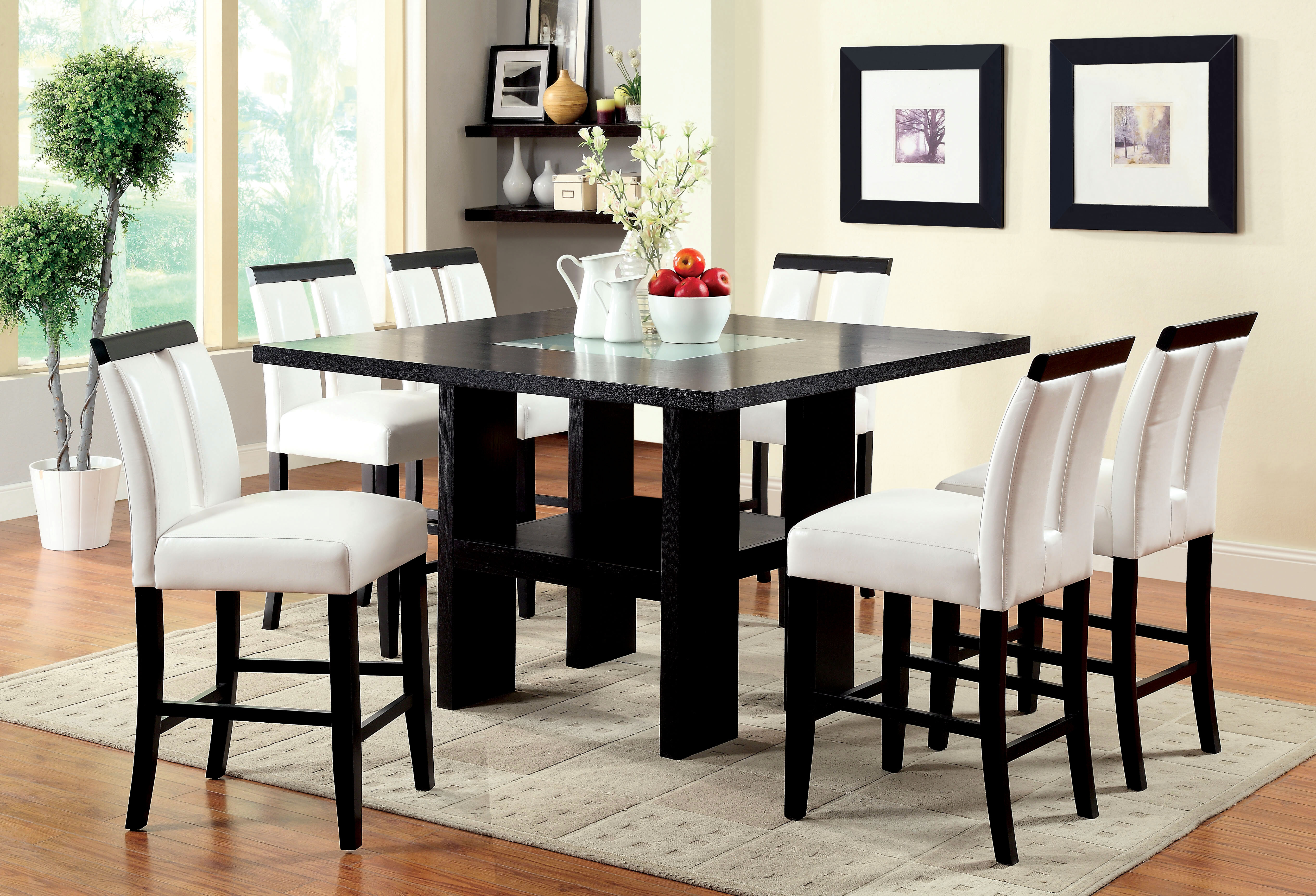 Latitude Run Equuleus Led Counter Height Dining Table Wayfair