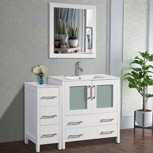 Karson 42 Single Bathroom Vanity Set with Mirror