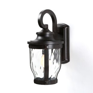 Porterfield 1-Light Glass Shade Outdoor Wall Lantern By Three Posts Outdoor Lighting