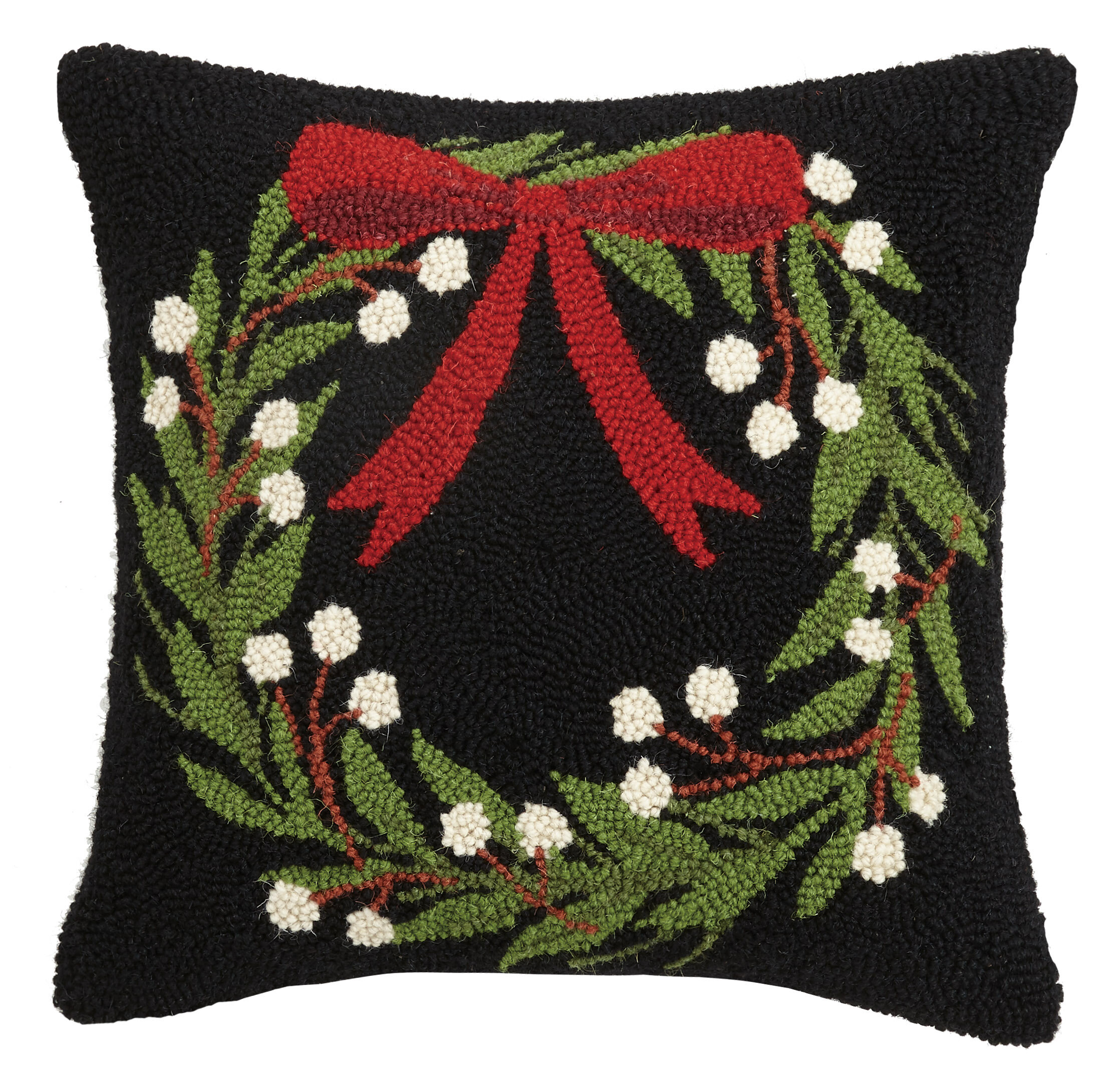 The Holiday Aisle Cabrillo Wreath Hook Wool Throw Pillow Wayfair