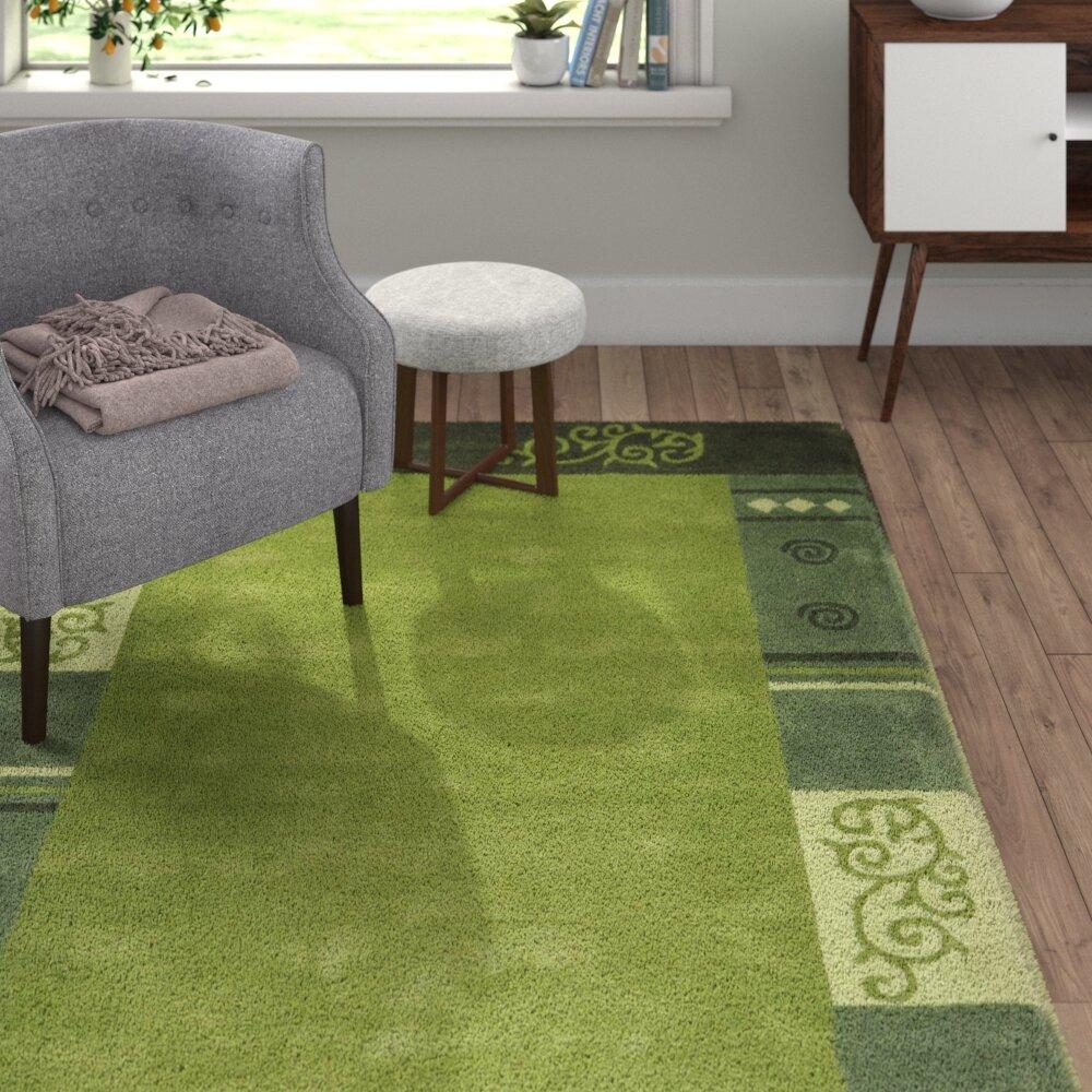 World Menagerie Bradbury Hand Tufted Wool Green Rug Reviews Wayfair Co Uk