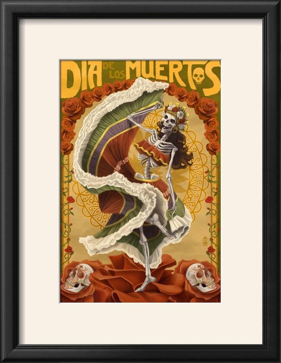 Bloomsbury Market \'Dia De Los Muertos\' Framed Graphic Art Print ...