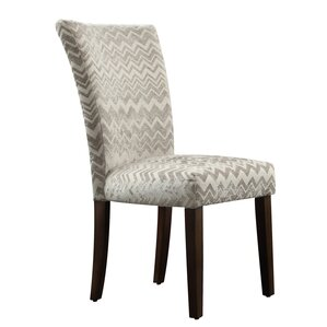 Hurst Chevron Print Parson Chair (Set ..