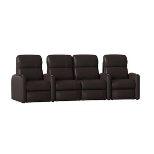 Home Theater Loveseat (Row Of 4) by Latitude Run New