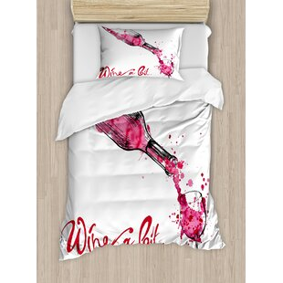 Wine Duvet Cover Set by Ambesonne