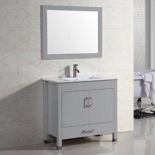 Vidya 24 Single Bathroom Vanity Set with Mirror by Latitude Run