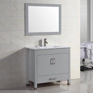 Vidya 36 Single Bathroom Vanity Set with Mirror by Latitude Run