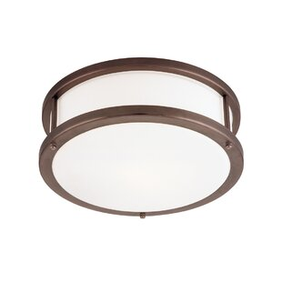 Find for Tatom 1-Light Outdoor Flush Mount By Latitude Run