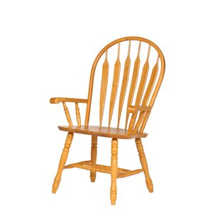 Malaysian Oak Windsor Back Solid Wood Dining Chair August Grove
