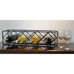 J & J Wire 4 Bottle Tabletop Wine Rack