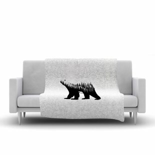 Best Choices BarmalisiRTB the Bear Illustration Fleece Blanket ByEast Urban Home