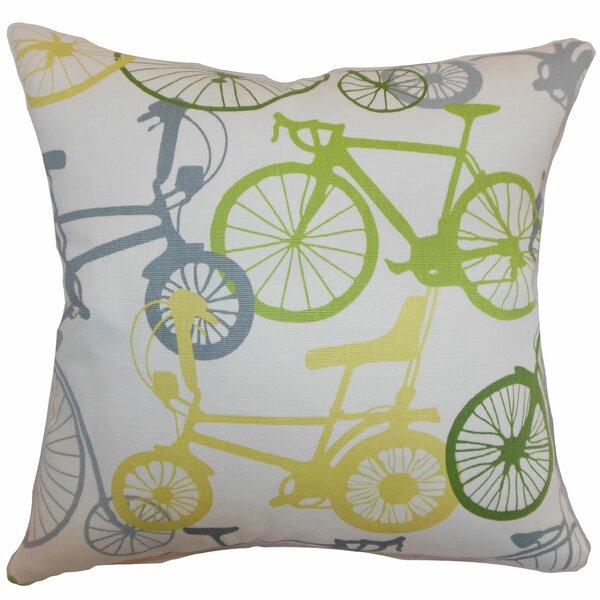 The Pillow Collection Echuca Bicycles Cotton Throw Pillow Reviews Wayfair