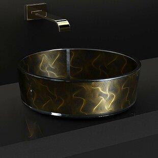 Best Atelier Modern Glass Circular Vessel Bathroom Sink ByMaestro Bath