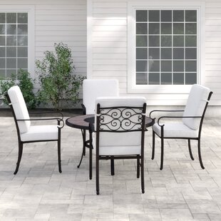 Elizabeth 4 Seater Dining Set With Cushions By August Grove