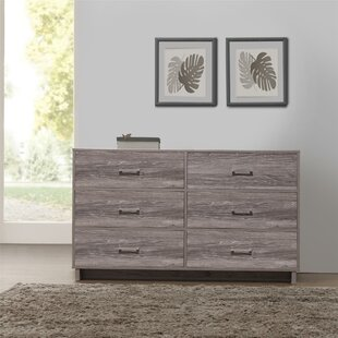 Chicopee Modern 6 Drawer Double Dresser