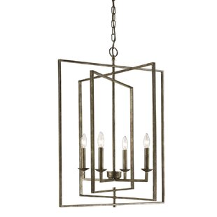 Gracie Oaks Maisie 4-Light Lantern Chandelier