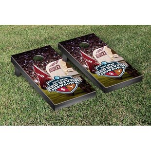 Victory Tailgate NCAA Red River Showdown Version Cornhole Game Set
