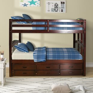 Coddington Twin Over Twin Bunk Bed with Trundle by Harriet Bee