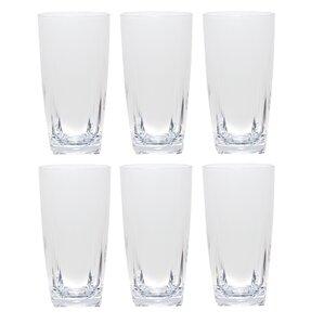 acrylic highball glass set of 6