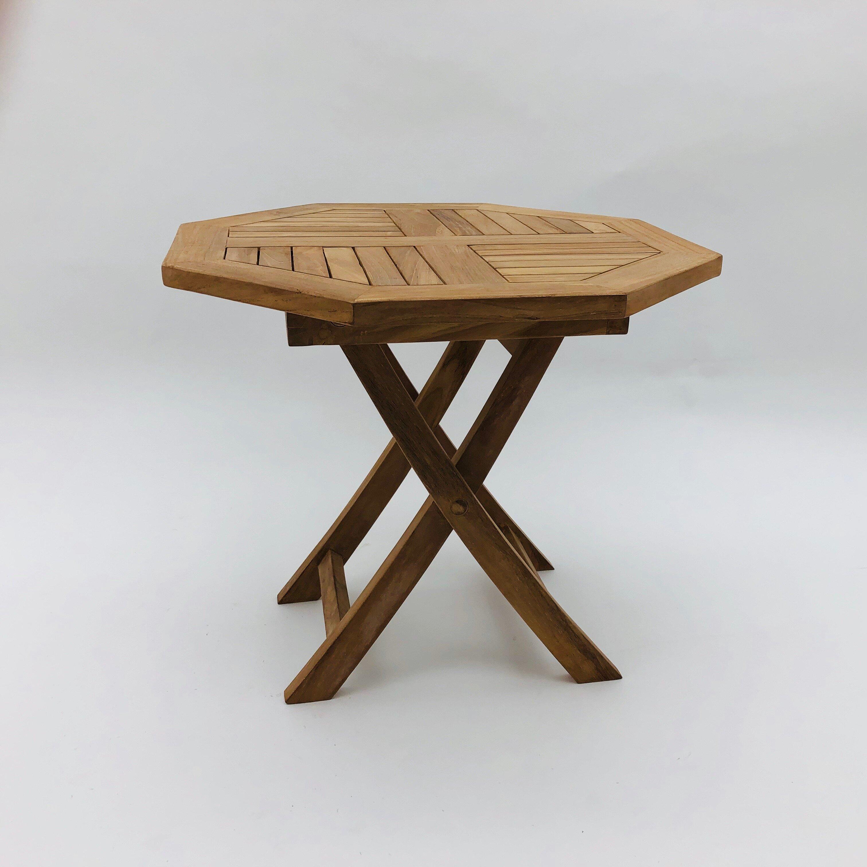 Folding Teak Side Table.Liskeard Folding Teak Side Table
