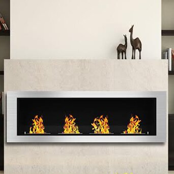 Elite Flame Luxe Ventless Wall Mount Bio-Ethanol Fireplace ...