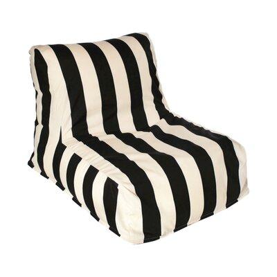 Beachcrest Home Merrill Bean Bag Lounger Upholstery: Black/Off-White