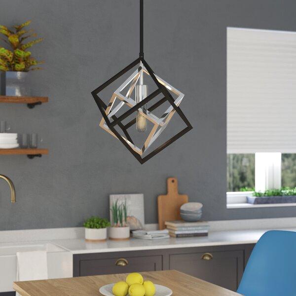 Brayden Studio Pederson 1 Light Single Geometric Pendant Reviews Wayfair