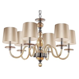 Lennon 6-Light Shaded Chandelier By House of Hampton
