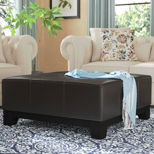 Dessie Leather Tufted Cocktail Ottoman