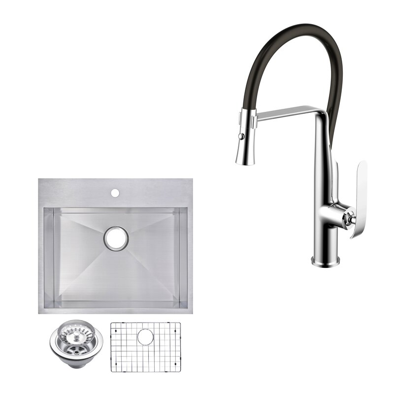 dCOR design All-In-One Top Mount Stainless Steel 25\
