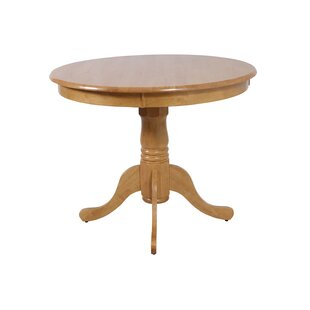 Norcross Solid Wood Dining Table Highland Dunes