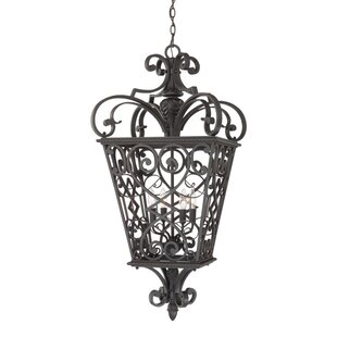 Great Price Mellen 4-Light Outdoor Hanging Lantern By Three Posts