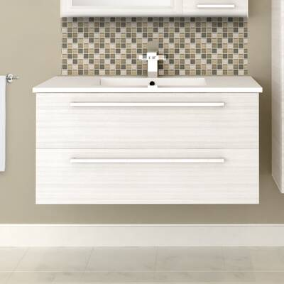 Mercury Row Akron 36 Wall Mounted Single Bathroom Vanity Set Reviews Wayfair