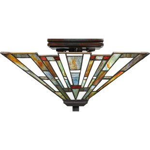 LosPalmos 2-Light Semi Flush M..