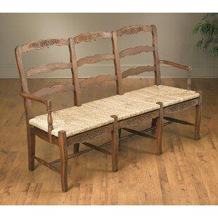 Suki Three Seat Wood Bench by One Allium Way